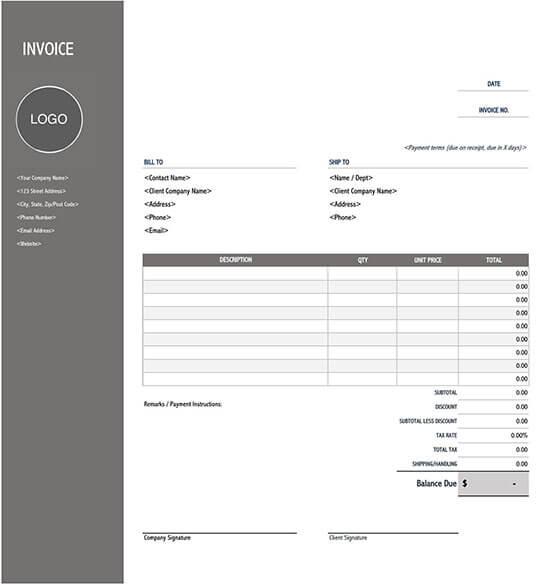 itemized receipt generator