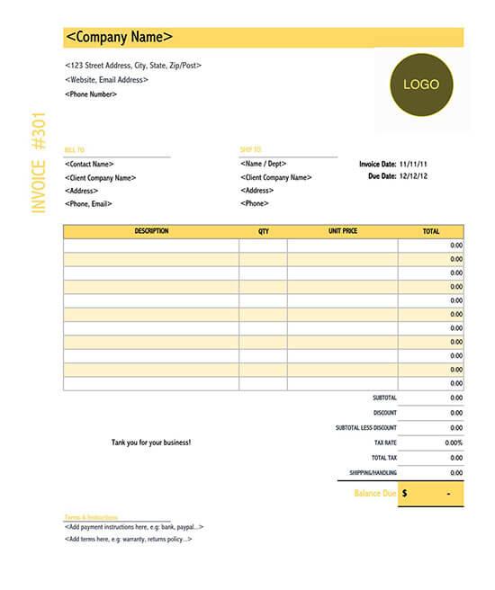 itemized billing statement template
