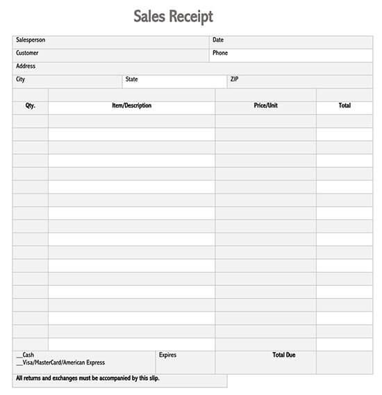 receipt template doc 03