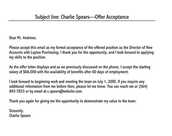 sample letter of acceptance of appointment 03