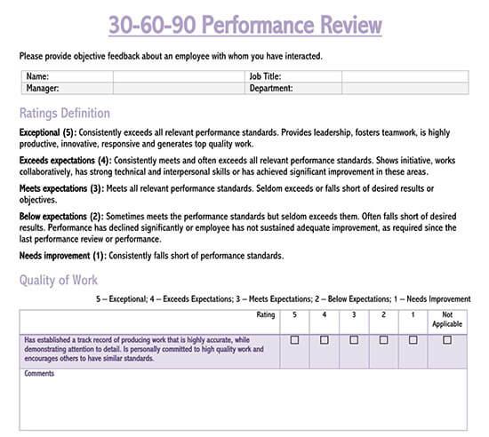 employee evaluation form pdf free
