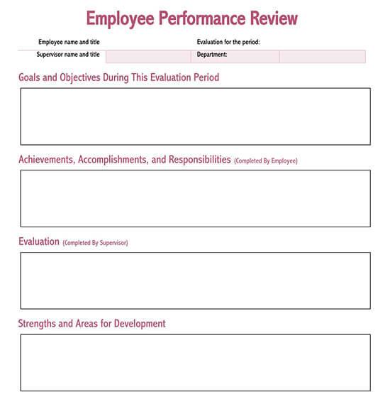 probation evaluation form template