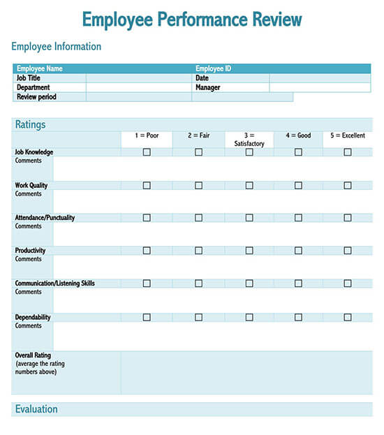 employee evaluation template excel 01