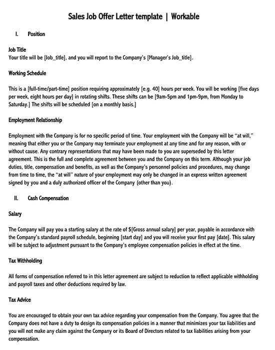 sales offer letter format in word 01