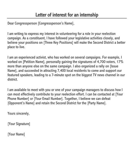 Letter Expressing Interest In Job from www.doctemplates.net