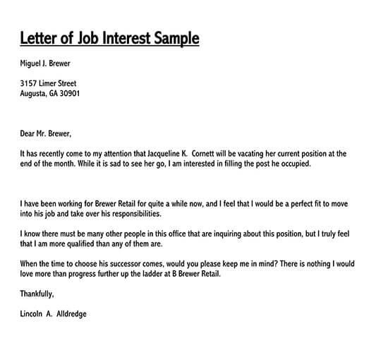 Letter Of Interest Sample from www.doctemplates.net