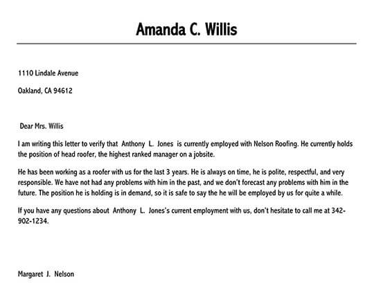 confirmation of employment letter for bank 01