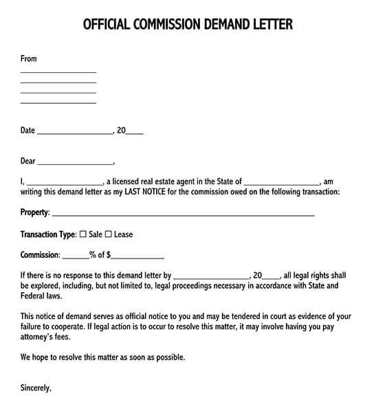 demand letter format 01