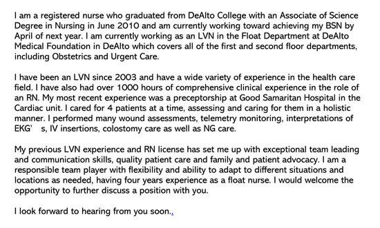 Director Of Nursing Cover Letter