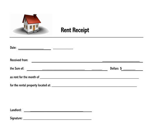 free rent receipt template word india 01