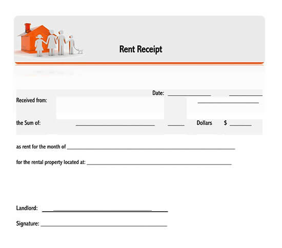 free rent receipt template excel 01