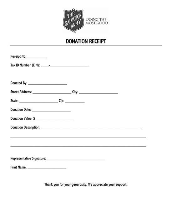 school donation receipt template 08