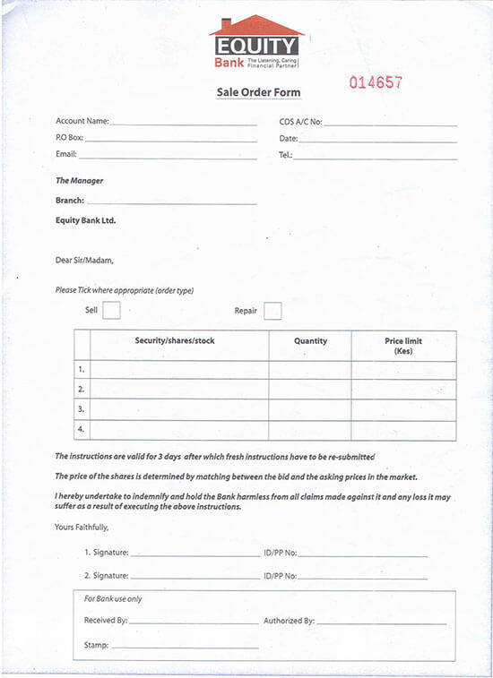 order form examples