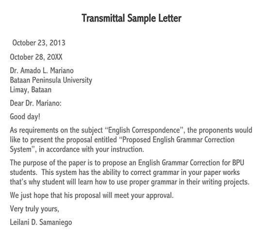 letter of transmittal pdf