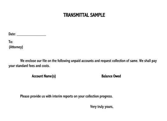 transmittal form template word 01