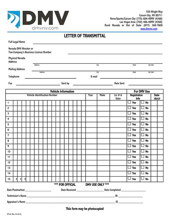 transmittal form template free download 02