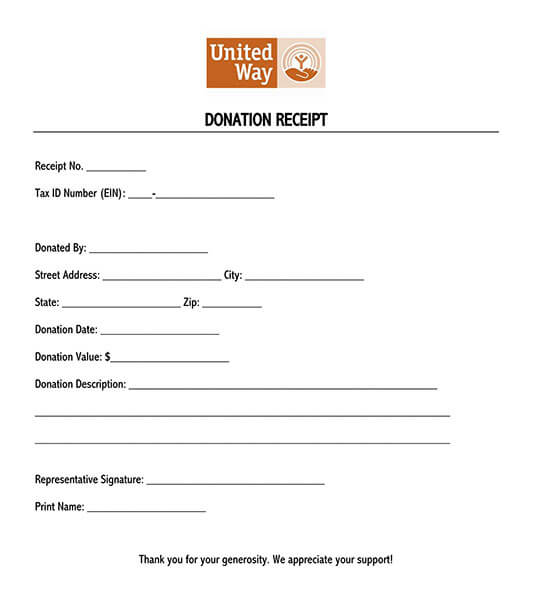 donation receipt letter template 08