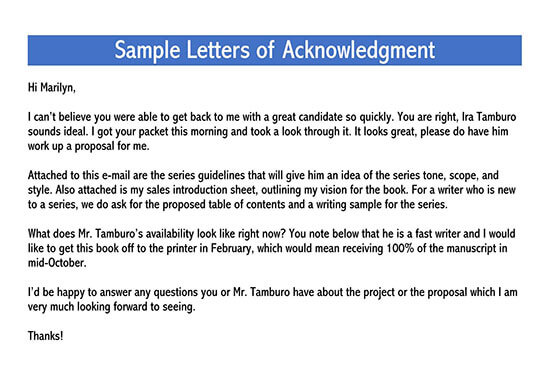 acknowledgement letter for receiving documents pdf