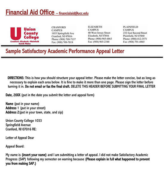 Appeal Letter For Reconsideration from www.doctemplates.net
