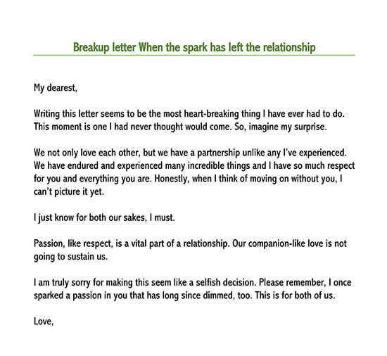break up letter to someone who hurt you
