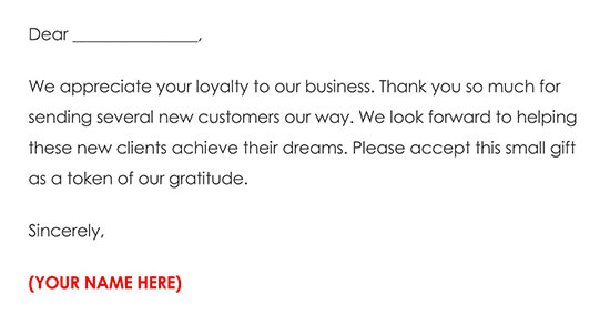 Business Referral Thank You Card Example 04
