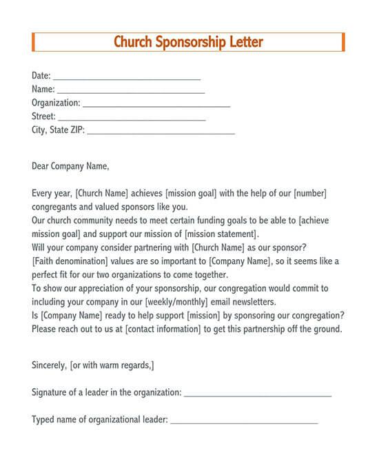 sample letter asking for sponsorship for an event