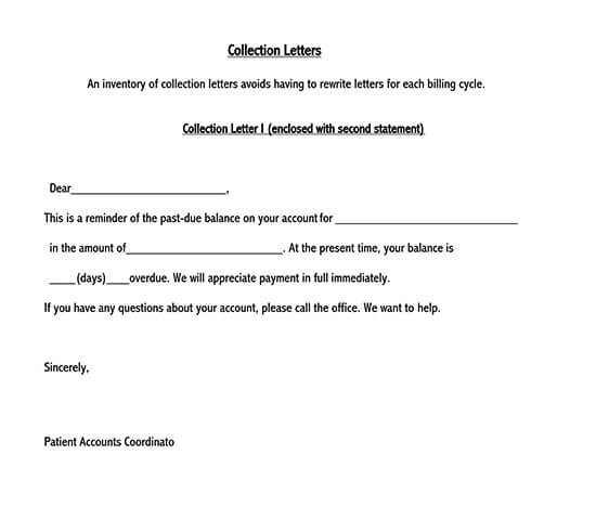 how to write a collection letter