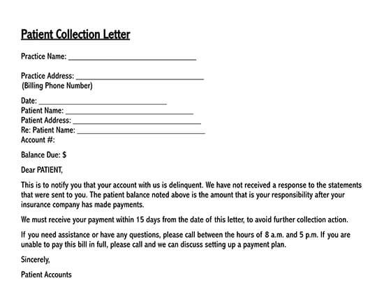 successful collection letters