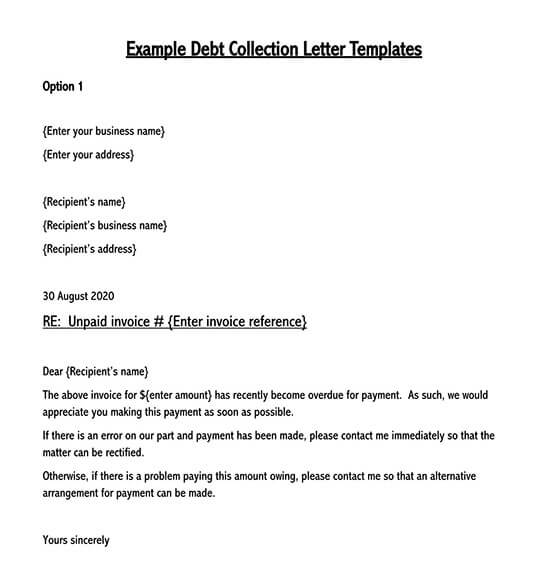 debt collection letter template 01