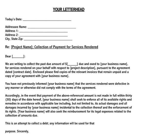 sample collection letter to customer 02