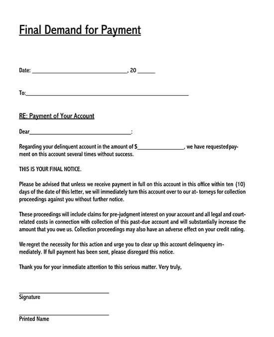 debt collection letter template 02