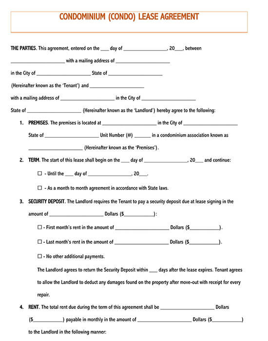 lease agreement template word 01