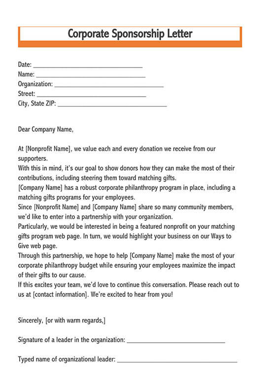 how to write a letter to a church asking for money