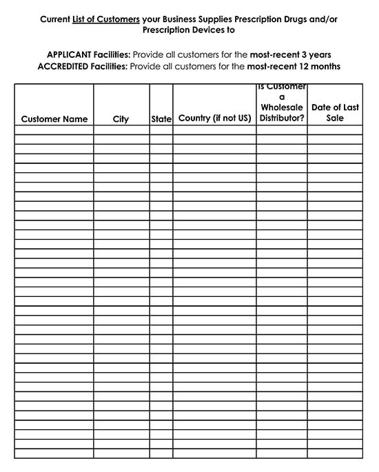 Customer Contact List Template for Excel 12