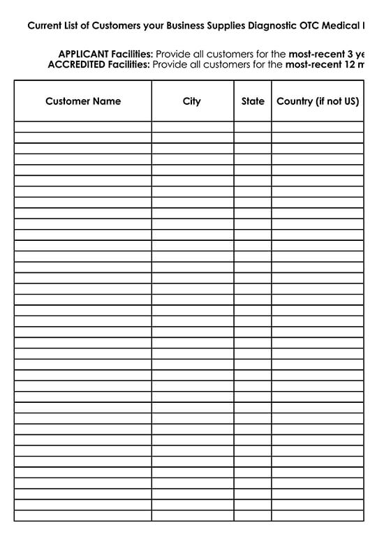 Customer Contact List Template for Excel 22