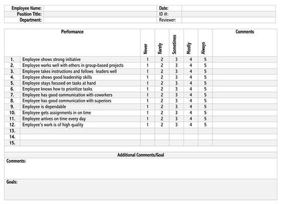 employee performance tracking template excel 01