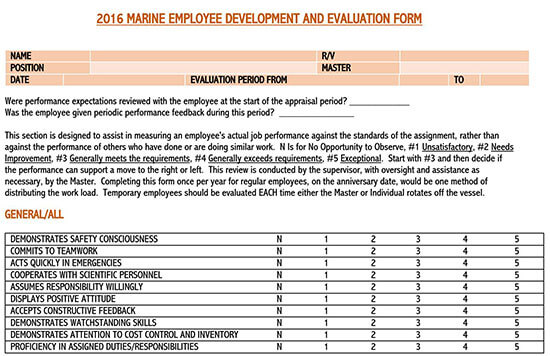employee performance review template (word) 01