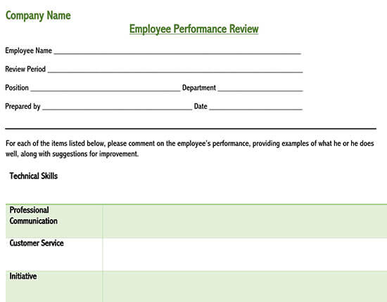 employee performance review template pdf 02
