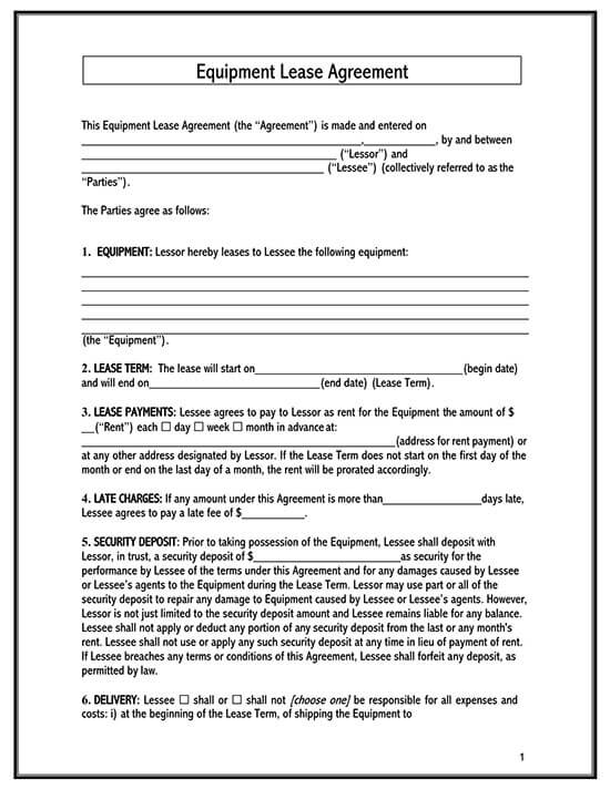 standard lease agreement pdf 01