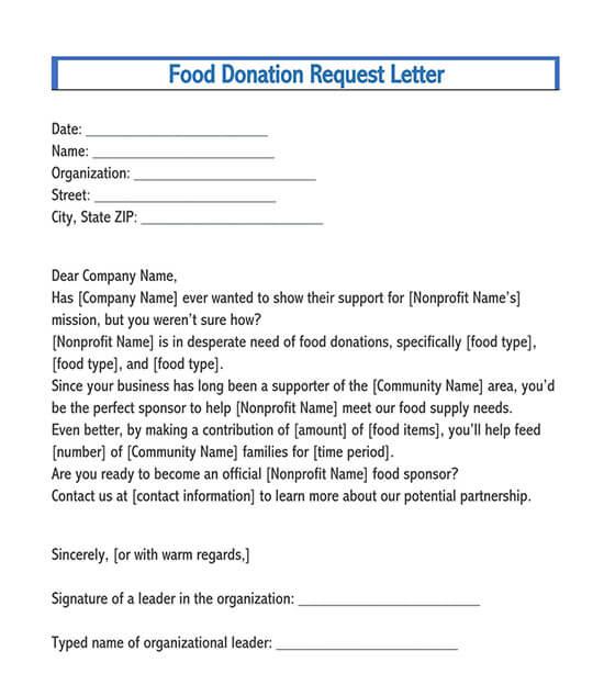 sponsor letter sample