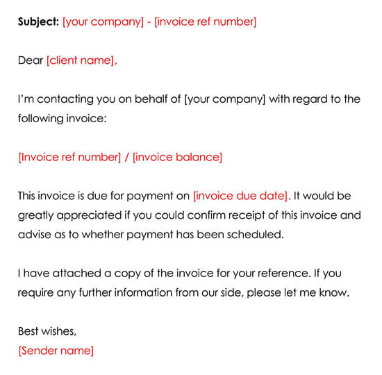 Free Invoice Reminder Email Template