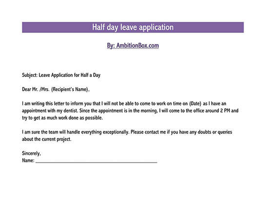 leave letter sample for office 01