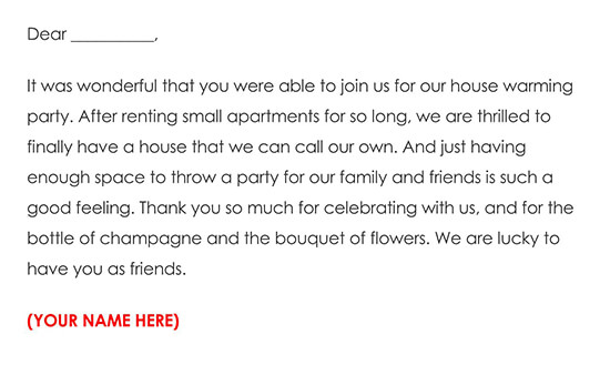 House Warming Gift Thank You Note 08