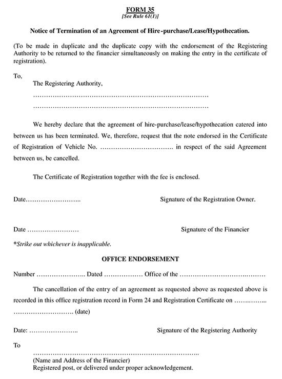 Lease Termination Agreement Letter Sample