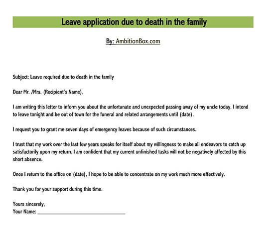 leave letter template for office 01