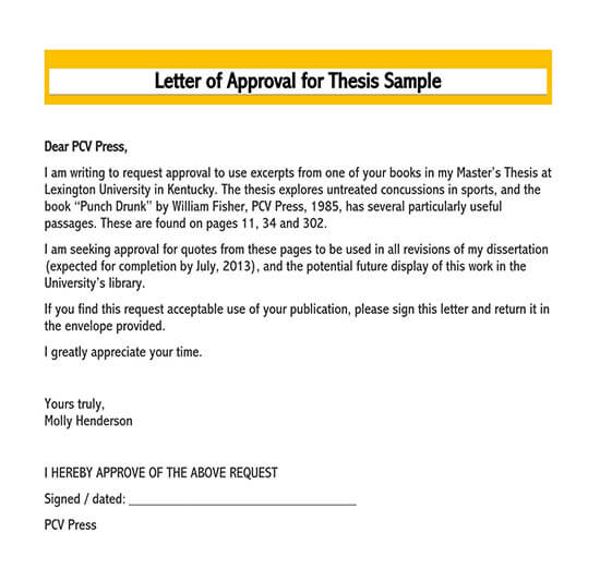 request for approval letter sample