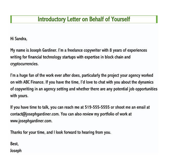 sample business introduction letter to prospective clients doc