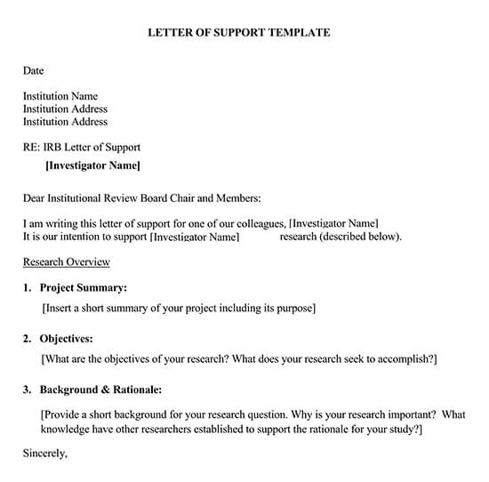 Letter of Support Template 03