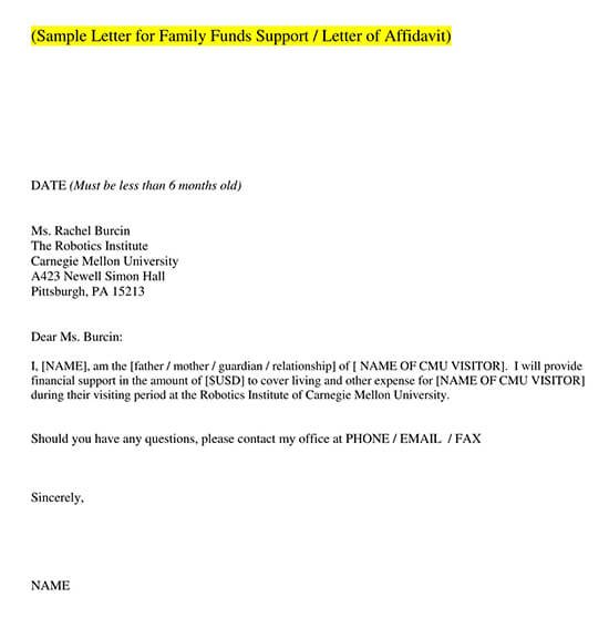 Letter of Support Template 07