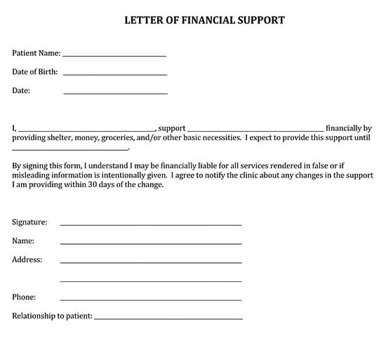 Letter of Support Template 17